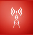 antenna icon isolated radio antenna wireless vector image