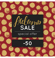 autumn sale discount in fall special offer vector image vector image