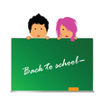 back to school with children color vector image