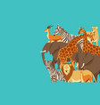 background with african savanna animals vector image