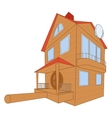 Bird house deluxe vector image