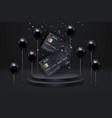 black credit cards on podium friday sale vector image