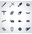 black meat icon set vector image vector image
