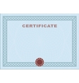 Blue blank certificate vector image