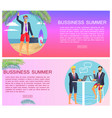 business summer with text vector image vector image