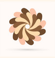 chocolate fan spin vector image vector image