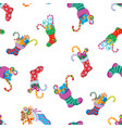 christmas socks pattern vector image