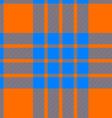 clan cameron tartan seamless background orange and vector image vector image