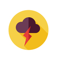 Cloud Lightning flat icon Meteorology Weather vector image vector image