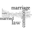 common law marriage vector image vector image