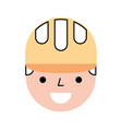 construction worker avatar character vector image vector image