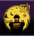 creep it real typography design vector image vector image