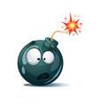 cute funny crazy - cartoon bomb character vector image