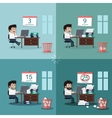 Deadline Design Concept Flat Interior Man vector image