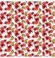 dogrose berries seamless pattern vector image vector image