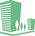 eco buildings 02 vector image