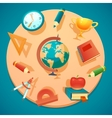 education and school icons set vector image vector image