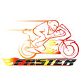 faster racing championship vector image vector image