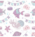 fish holiday underwater seamless pattern il vector image vector image