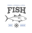 Fish label vector image