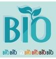 Flat design bio sign vector image