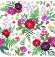 flowers seamless pattern hand drawn for print vector image vector image