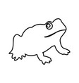 frog it is black icon vector image vector image