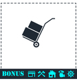 Handcart icon flat vector image vector image