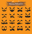 happy halloween - ghost expressions vector image