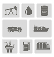 icons with oil and petroleum theme vector image
