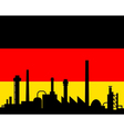 industry and flag of germany vector image vector image