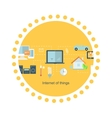 Internet of Things Icon Flat Design vector image vector image