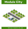 isometric 3d park with trees vector image vector image