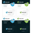 isometric box business cards 2 vector image vector image