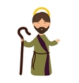 Joseph icon Merry Christmas design vector image vector image