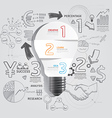 light bulb doodles line drawing success strategy vector image