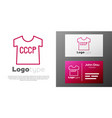 logotype line ussr t-shirt icon isolated on white vector image vector image