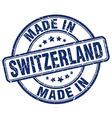 made in Switzerland vector image vector image