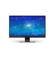 mathematical formulas on blue screen monitor vector image vector image