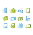 media and electronics icons vector image vector image