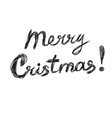 merry christmas lettering logo scribbled vector image