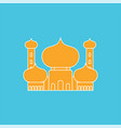 mosque islamic religious building for muslim vector image vector image