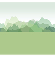 mountains green vector image vector image