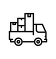 moving truck icon vector image vector image