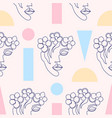 pattern with woman faces vector image vector image