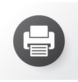 printer icon symbol premium quality isolated fax vector image