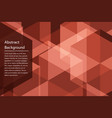red geometry abstract background vector image vector image