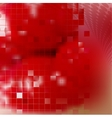 Red technology background vector image vector image