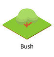 resting place icon isometric style vector image vector image
