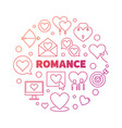 romance concept colorful round outline vector image vector image